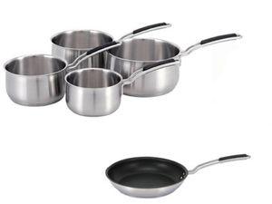 Kit poeles + 4 casseroles inox